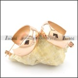 shiny rose gold smooth stainless steel earring e000789