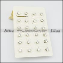 stud earrings for men with clear zircon e000879