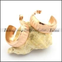 cheap rose gold hoop earrings for ladies e000893