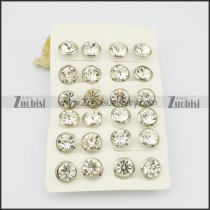 zircon stone normal earring with clear stone e000887