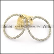 net circle earrings e000865