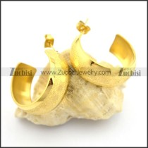 cheap gold hoop earrings in stainless steel e000894