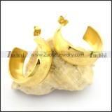 cheap gold hoop earrings in stainless steel e000894