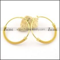 gold clip on earrings e000874