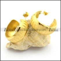 gold hoop earrings for women in stainless steel e000892