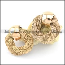rose gold net chain earring e000876