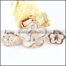 Rose Gold Stainless Steel Boy Jewelry Set-s000013