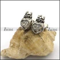 Crown Shaped Zircon Stud Earrings e001052