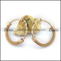 Rose Gold Plating Net Earring e001144