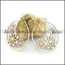 Rose Gold Flowers Earring e001133