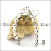 Shiny Clear Rhinestones Earrings with 3 Sizes Stones e001099