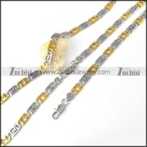 Stainless Steel Cross Chain Matching Jewelry in 2 tones -s000162