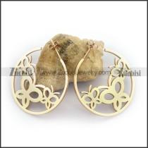 Rose Gold Cutting Butterflies Earring e001134