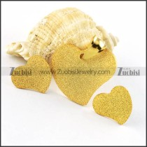 Gold Blasting Heart Stainless Steel jewelry set-s000092