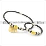 leather jewelry set s000742