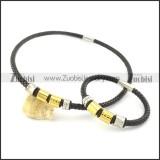 leather jewelry set s000744