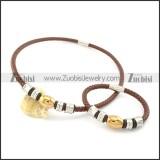 leather jewelry set s000741