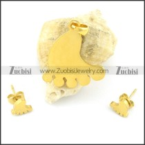 gold sole matching jewelry s000835