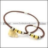 leather jewelry set s000745