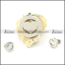 heart shaped earring and pendant for wholesale s000846