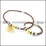 leather jewelry set s000743
