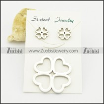 four leaf clover earring and pendant matching jewelry s000930