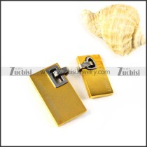 Yellow Gold Stainless Steel Couple Pendants - p000009