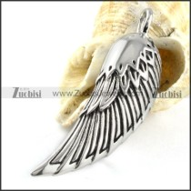 Stainless Steel Feather Pendant - p000158