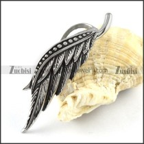 Stainless Steel Bird Feather Pendant - p000160