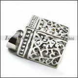 Silver Casket Stainless Steel Pendant - p000091