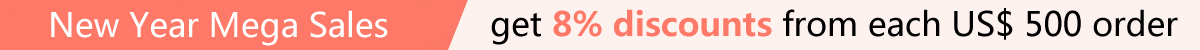 New Year Mega Sales with 8% Discounts for Wholesale Order
