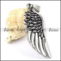 Stainless Steel Wing Pendant - p000155
