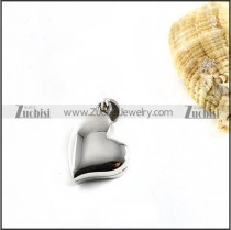Smooth Heart Stainless Steel Pendant - p000119