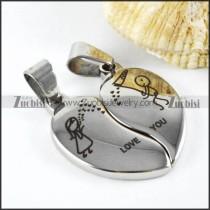 Heart Stainless Steel Couple Pendants - p000001