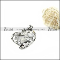 Hollowing Heart Stainless Steel Pendant - p000118