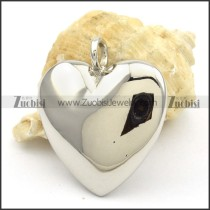 Stainless Steel Smooth Heart Pendants -p000431