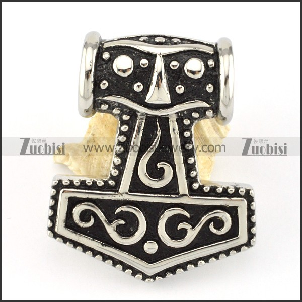 beautiful oxidation-resisting steel Hammer of Thor Big Pendant for Motorcycle Bikers - p000584