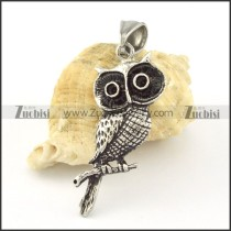 Stainless Steel night owl Pendant -p000662