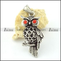 Small Stainless Steel Owl Pendant -p000636