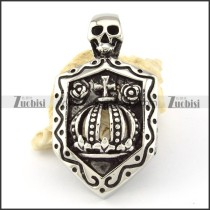 Stainless Steel Crown Skull Pendant -p000616