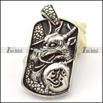 Stainless Steel dragon Pendants -p000467