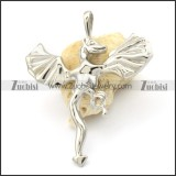 Small Stainless Steel Dragon Pendant -p000317