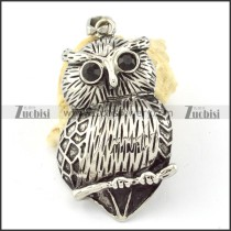 Stainless Steel Owl Pendant -p000642