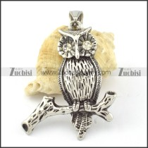 Stainless Steel Owl Pendant -p000647