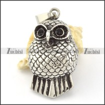 Stainless Steel Owl Pendant -p000630