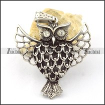 Stainless Steel Owl Pendant -p000643