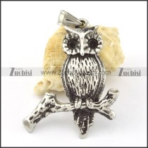 Stainless Steel Owl Pendant -p000646