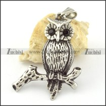 Stainless Steel Owl Pendant -p000648