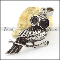 Stainless Steel owl Pendant -p000659