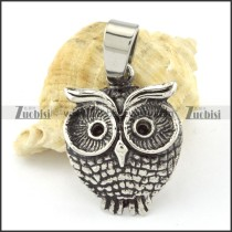 Stainless Steel Owl Pendant -p000657